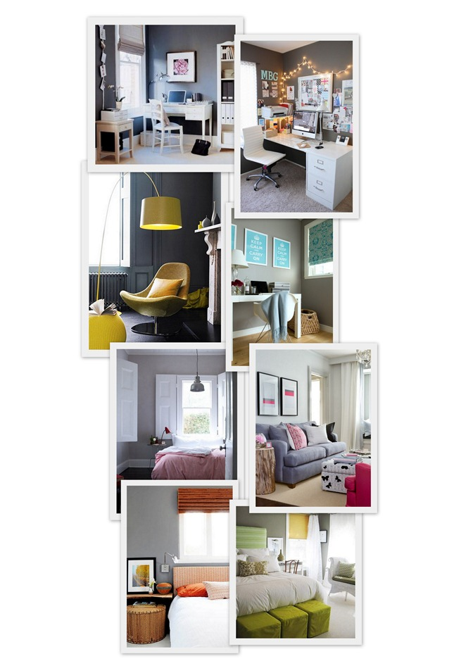 grey walls collage