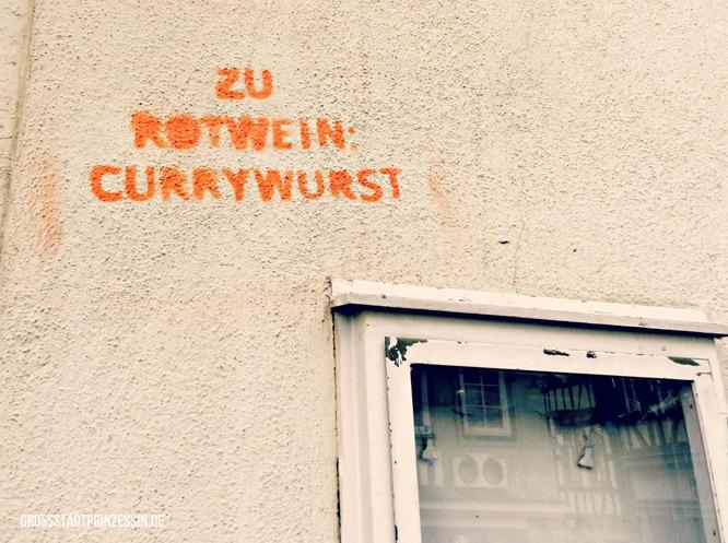 Rotwein und Currywurst