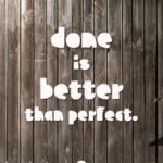 Über Produktivität und Perfektion