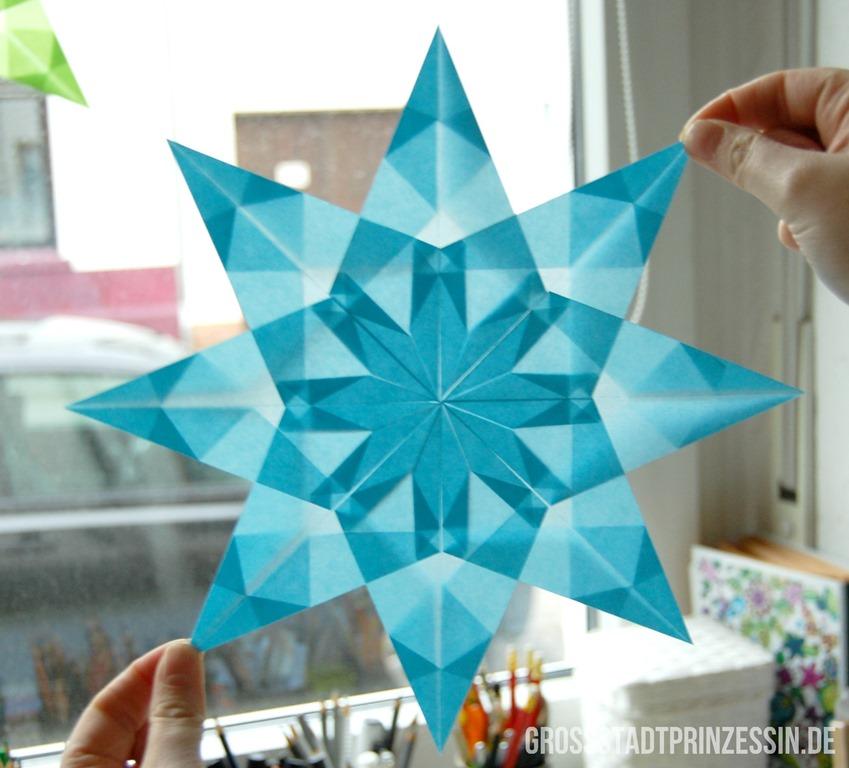 Fenstersterne Aus Transparentpapier