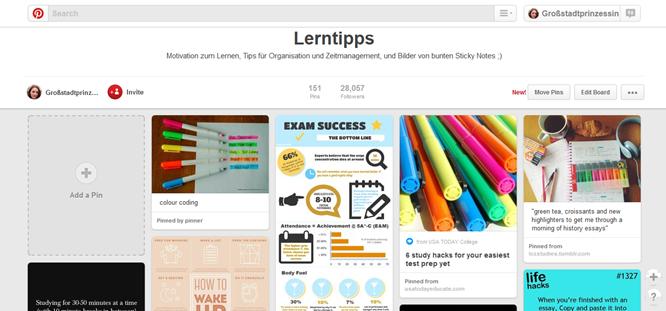 Lerntipps Board Screenshot