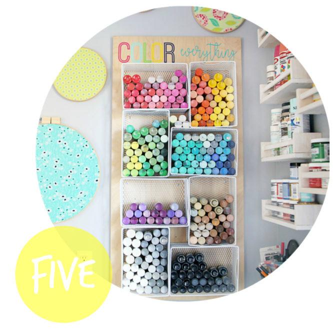 DIY Farben-Aufbewahrung