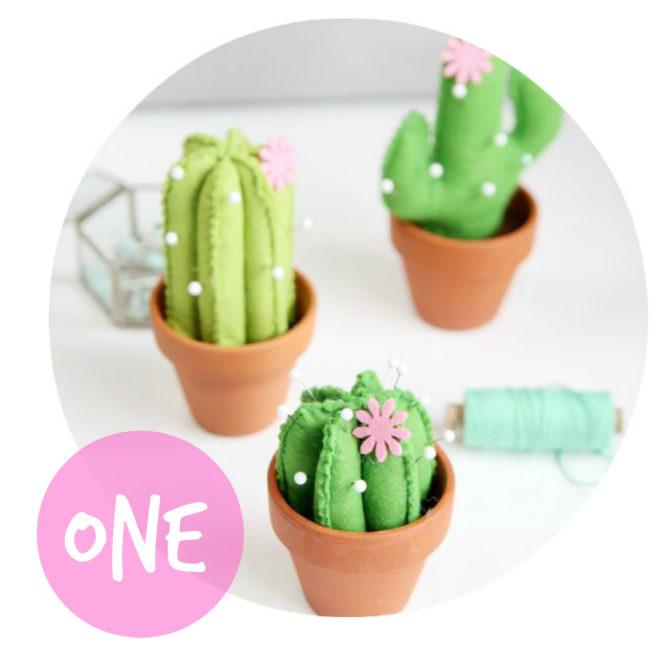 DIY Kaktus-Nadelkissen