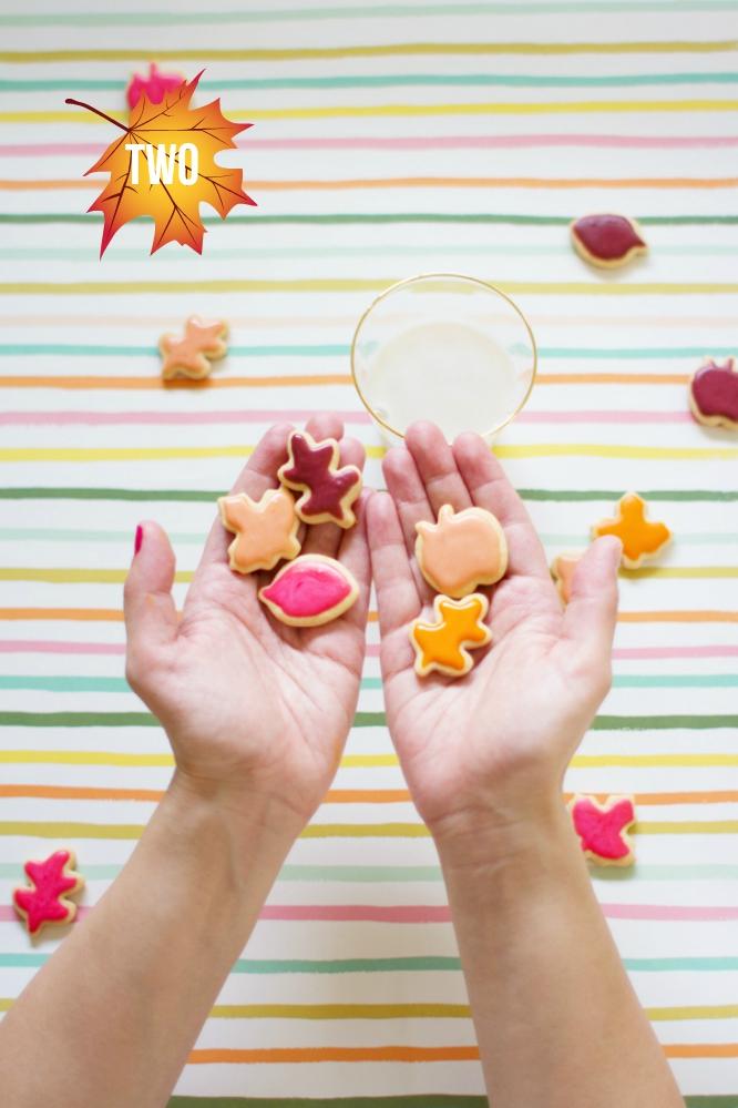 Herbstblätter-Kekse